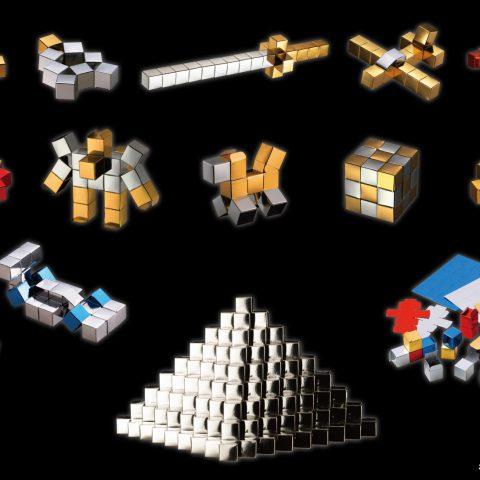 キラキラブロック:紙のブロック。のり付けなしでしっかり繋がる