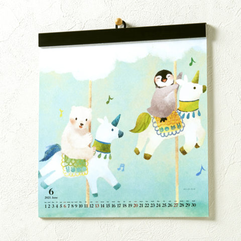 イラストをメインにした正方形のカレンダーを販売しました。